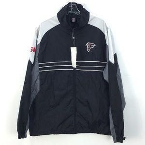 NWT Reebok NFL Atlanta Falcons Team Apparel Lightweight Windbreaker Jacket